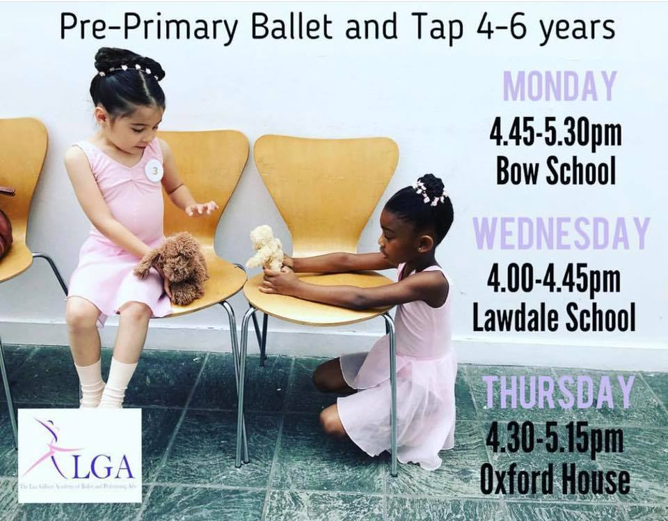 Pre-Primary Ballet/Tap Classes for 4-6 Year Olds