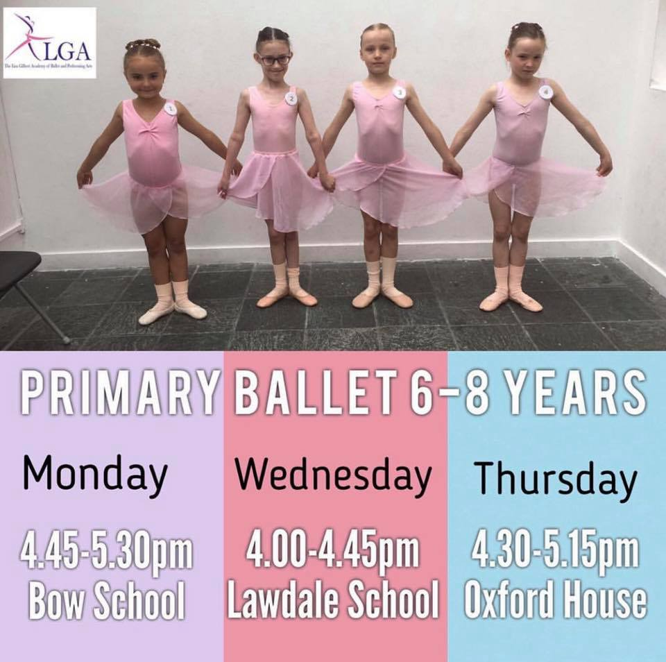 Primary Ballet Classes at The Lisa Gilbert Academy of Ballet and Performing Arts